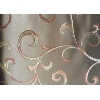 Buy cheap Curtain Jacquard Woven Fabric Floral Pattern Washable Multi Colour product