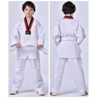 Buy cheap Special offer white long sleeve polyester cotton TKD Uniform from wholesalers