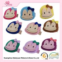 Buy cheap Monkey Embellishment Baby Felt Hair accessories , little girl hair clips 3.5cm from wholesalers