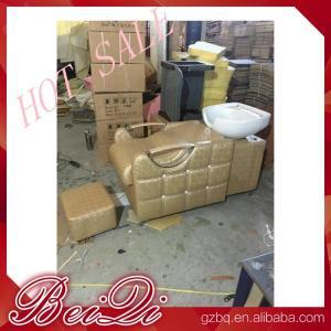 Buy cheap beauty salon furniture hair washing sink salon equipments backwash shampoo unit bed product