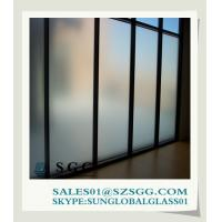 Buy cheap 3mm-19mm opaque window acid etched glass from wholesalers
