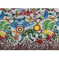 Buy cheap Rural Style Multi Colored Lace Fabric with Abundant Flowers And Leaves Pattern product