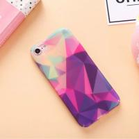 Buy cheap Hard PC Decal All-inclusive Color Flash Lozenge Pattern Cell Phone Case Cover For iPhone 7 6s Plus from wholesalers