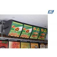 Buy cheap Acrylic Illuminated Led Menu Board Black Frame Single Side Display For Restaurant from wholesalers