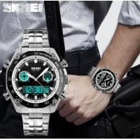 Buy cheap Skmei Men Fashion Digital Dual Time Display Sports Bracelet Watche EL Light Alarm Date  1204 from wholesalers
