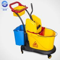 Buy cheap Small Double Mop Bucket With Wringer , Hospital Down Press Mop Wringer from wholesalers