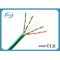 Green Long High Speed Cat6 Lan Cable For Home Use High Temperature Resistance