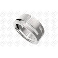 Buy cheap Engravable Stainless Steel Rings For Men , Full Shiny Polished Wedding Ring from wholesalers