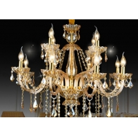 Buy cheap 6 Bulbs 850*700mm K9 Stainless Steel 220V Hanging Candle Chandelier from wholesalers
