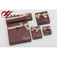 Buy cheap Beautiful Bowknot Paper Jewelry Boxes Set Convenient Maintain For Jewelry Storage from wholesalers