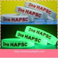 Buy cheap Customized Sports Silicone Bracelets , Colorful Screen Printing LOGO Wristbands In Night from wholesalers
