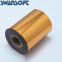 Buy cheap SWANSOFT Hot Stamping Foil 3cm Hot Stamp Ribbon Date Coding Foil Paper Hot Embossing Foil Paper Make Colorful Logo from wholesalers