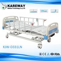 Buy cheap Plastic Cranks Motorised Hospital Bed 1.2mm Thickness 3 Functions Hospital Furniture from wholesalers