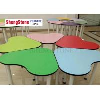 Buy cheap Multi Color Desks And Chairs Compact HPL Panels For Kindergartens And Tutorial Classes from wholesalers