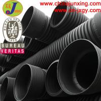 Buy cheap HDPE large diameter corrugated drainage polyethylene pipe from wholesalers