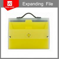 Buy cheap office supplies A4 plastic document holder PP expanding file folder with handle from wholesalers