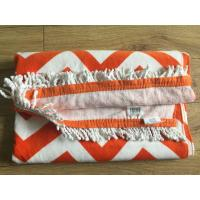 Buy cheap 100% Cotton Extra Large Custom Printed Rectangle Beach Towel with Tassels wholesale turkish towel product