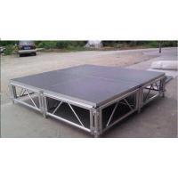 Square Adjustable Aluminum Folding Stage , Performance Mobile Stage Platform