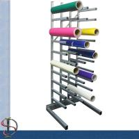 Buy cheap 40 vinyl roll display rack / metal display stand /  Roll display rack with casters / Tooling display stand from wholesalers