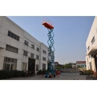 Buy cheap 11m Manual Pushing Mobile Scissor Lift  Loading 450kg from wholesalers