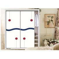 Buy cheap Textured Carving Painted Internal Sliding Doors , Wooden Wardrobe High Gloss UV MDF Board from wholesalers