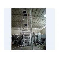 Buy cheap 1.35m Double Width Portable Aluminum Scaffolding Corrosion Resisstance from wholesalers