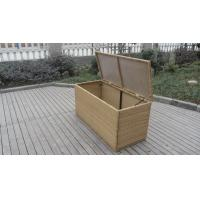 Buy cheap Resin Wicker Storage Box , All Weather Plastic Rattan Cushion Box from wholesalers