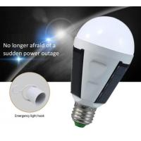 Buy cheap 7W 12W led bulb solar emergency rechargeable lamp E27 Li battery CE isolated driver 5630 chip Epistar 80LM 80RA PC cover from wholesalers