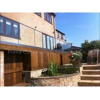 Buy cheap Aluminium Safety U Channel Profile External Frameless Glass Balustrade Easy DIY from wholesalers
