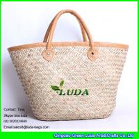 Buy cheap LUDA willow weave straw basket bag women's seaweed straw bag from wholesalers