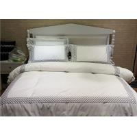 Buy cheap Embroidered Cotton Duvet Covers , Pretty White Duvet Covers And Shams from wholesalers