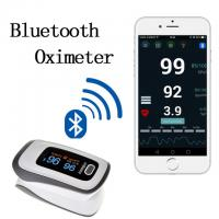 Buy cheap 2017 newest Bluetooth Fingertip Pulse Oximeter Oximetro de dedo Blood Oxygen Saturation Oximetro a finger for Health from wholesalers