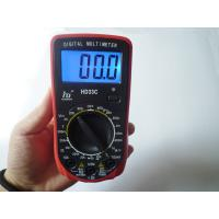 China Red Portable AC DC Voltage LCD Digital Multimeter with Blue light on sale