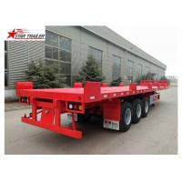 Buy cheap Custom Air Suspension 18 Wheeler Flatbed Trailer For Heavy Duty Cargo from wholesalers