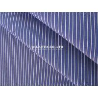 Buy cheap Organic Cotton Yarn Dyed Fabric, Plain Weave Blue White Stripe Shirt Cloth Material from wholesalers