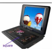 Buy cheap Black , Red 14 Inch Portable DVD Player With Rotatable LCD TFT Screen product