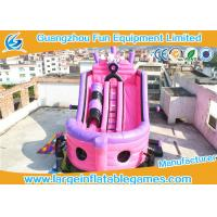 Buy cheap Large Pink Inflatable Pirate Ship Bouncer Slide , Outdoor Inflatable Slide For Sport Games from wholesalers