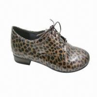 Buy cheap Women's Flat Casual Shoe with Leopard Print PU Upper, Fashionable Oxford Style, Various Designs  from wholesalers