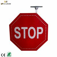 Buy cheap Solar LED STOP sign octagonal shape solar led traffic road sign from wholesalers