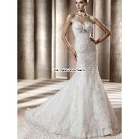 Buy cheap Sweetheart Empire Waist Mermaid Lace White Wedding Bride Dress (WD10024) from wholesalers
