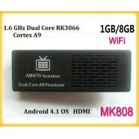 Buy cheap New mk808 Dual Core RK3066 Android 4.1 Google TV BOX, Cortex A9 Mali400 GPU WiFi HDMI Android USB PC from wholesalers