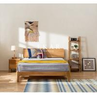 Buy cheap European Nordic Bedroom Furniture Oak Solid Wood Queen King Size Bed from wholesalers