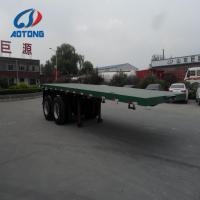 Buy cheap Steel material 20 feet,7.2 meter flatbed semi trailer truck for 20ft container carrier from wholesalers