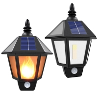 Buy cheap Motion Sensor Solar Power Outdoor Flame Flickering Wall Mount LED Light for Garden Landscape Security Lighting Lamp from wholesalers