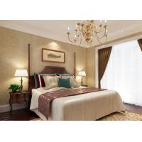 Buy cheap Luxurious Golden Color Embossed Vinyl Wallpaper with Symmetrical Floral Pattern product