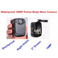 Durable Black Mini Body Worn Video Camera LCD Square Screen ABS Material