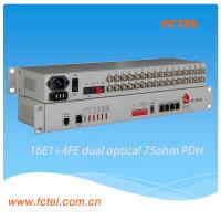 Buy cheap 19 inch rack cabinet 16E1 Fiber Optical Modem PDH Multiplexer from wholesalers