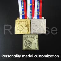 Buy cheap Customized individual metal medals, custom-made honour medals for martial arts competitions, gold silver bronze medal from wholesalers