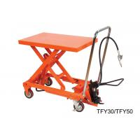 Buy cheap High Performance Lab Hand Lift Table With Removable Chromed Handle Frame from wholesalers