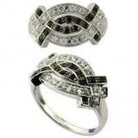 Buy cheap custom charming 925 silver engagement and wedding ring sets with cz stones micro paved from wholesalers